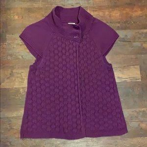 Izod purple cardigan size L open front w/ buttons